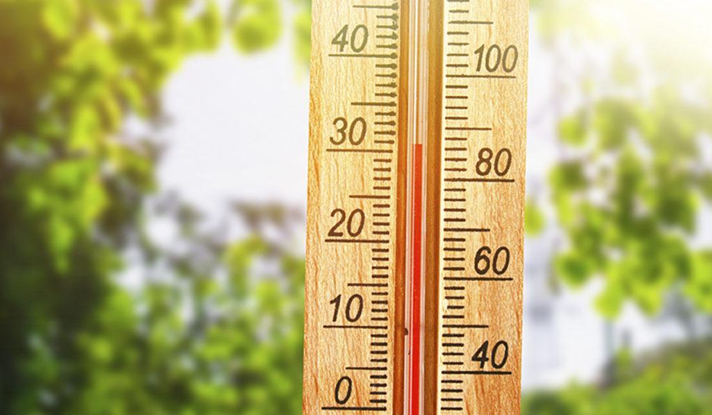 Lämpömittari.