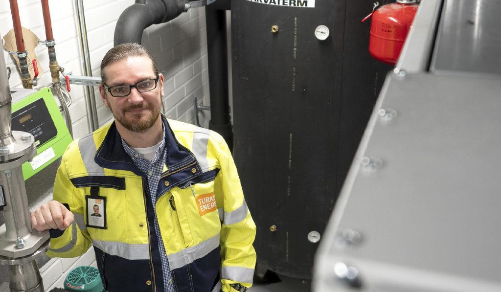 Lämpö-yksikön tuotepäällikkö Mika Karbin.