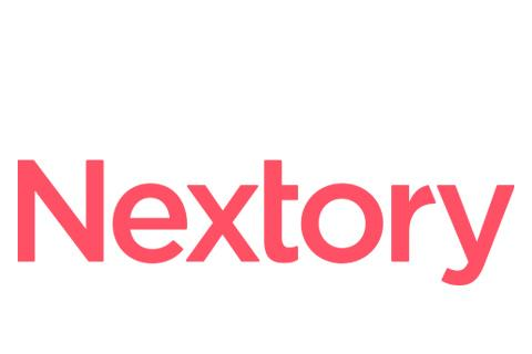 Nextory logo.