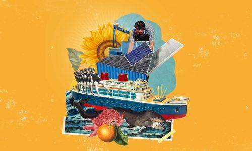 Aurinkovoimaa laivaan.