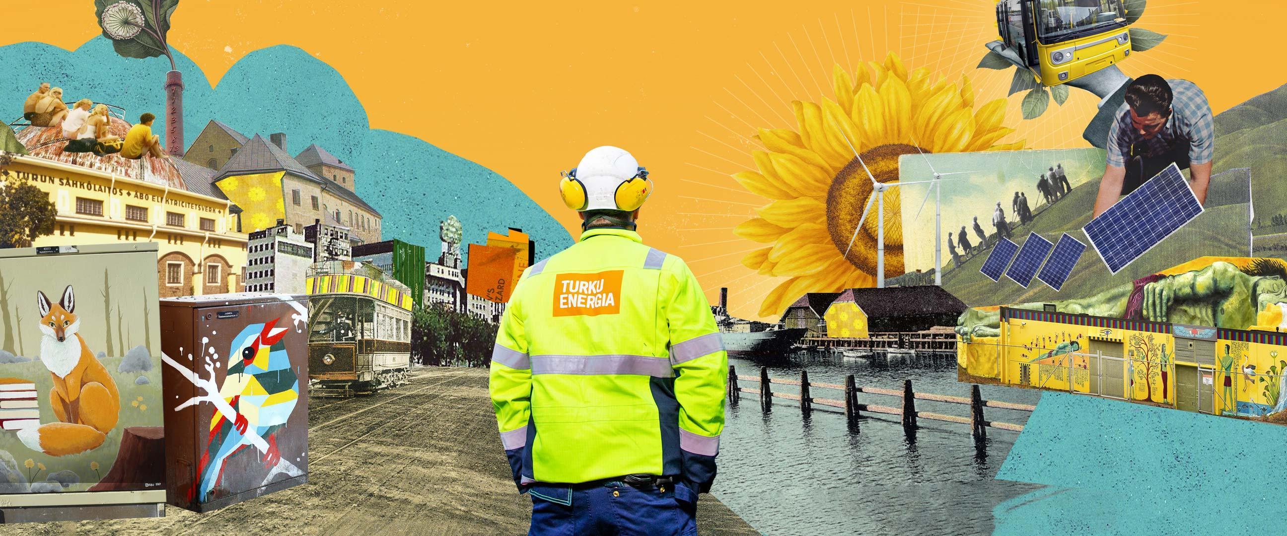 Turku Energia pyrkii teoillaan vaikuttamaan Turun seudun ja sen asukkaiden hyvinvointiin.