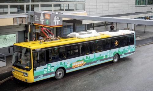 Turku Energia bussilatauspiste.
