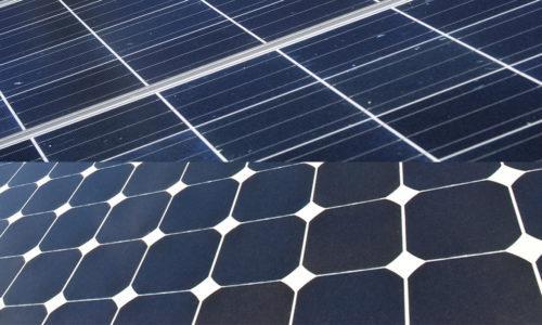 Lähikuva aurinkopaneeleista.