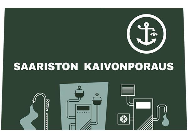 Saariston Kaivonporauksen logo.