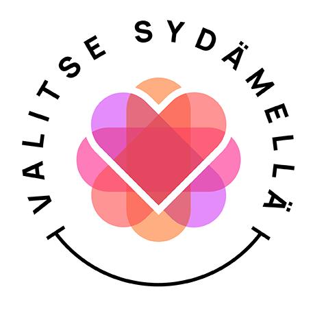 Valitse Sydämellä -järjestön logo.