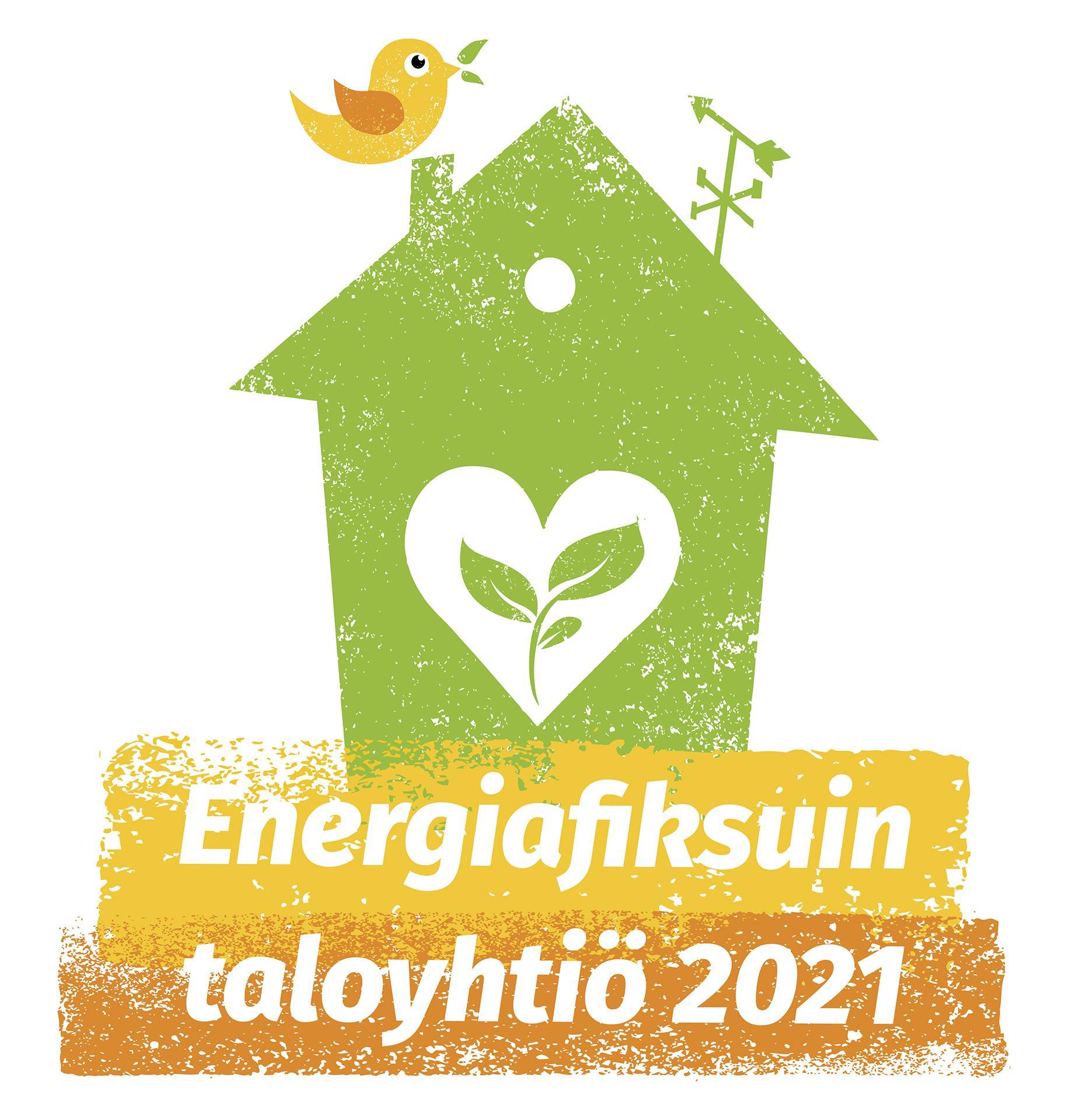 Energiafiksuin taloyhtiö 2021 -kilpailun logo.