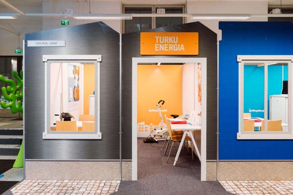 Turku Energian osasto Yrityskylässä.