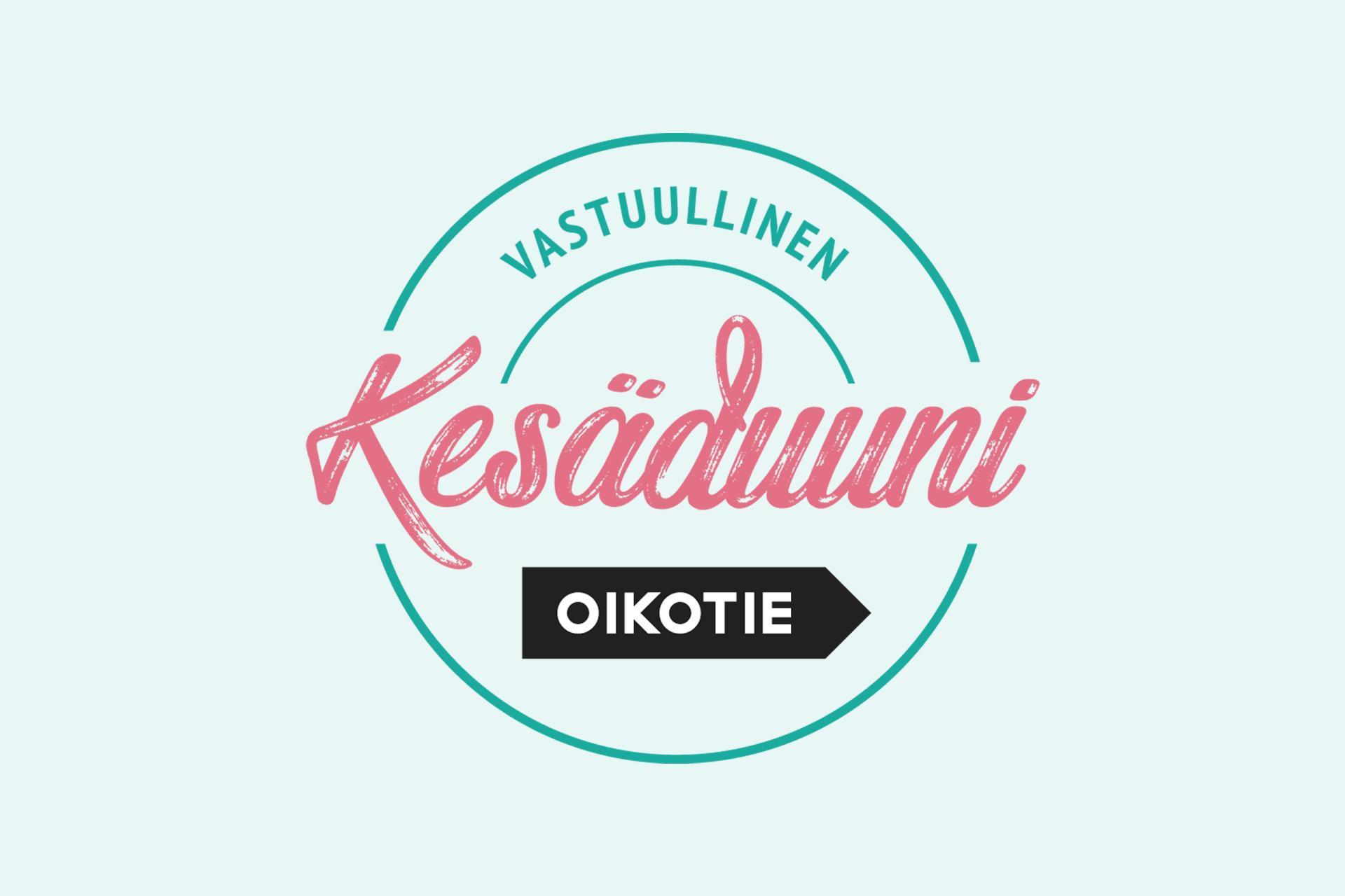 Vastuullinen Kesäduuni -kampanjan logo.