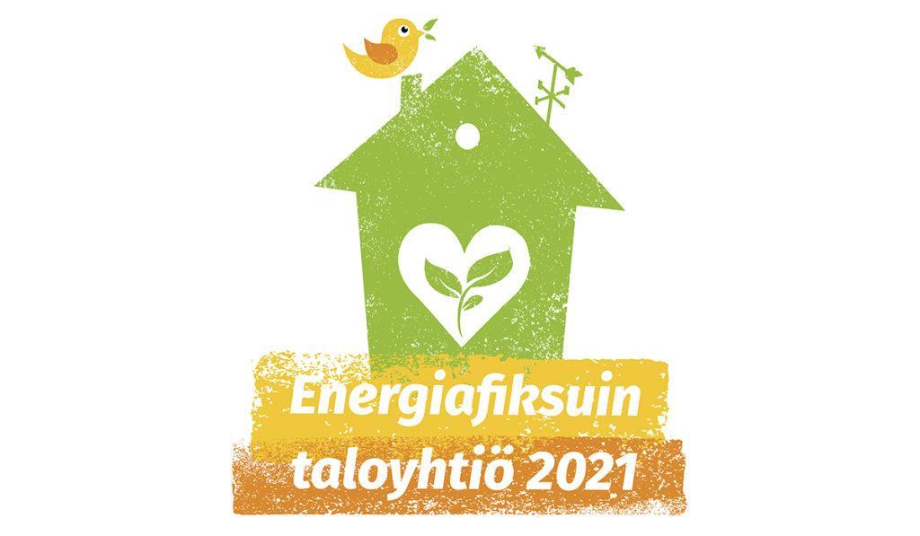 Energiafiksuin taloyhtiö 2021 -kilpailun logo