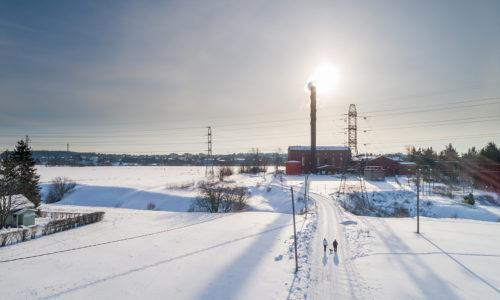 Luminen maisema Turun Koroisilla