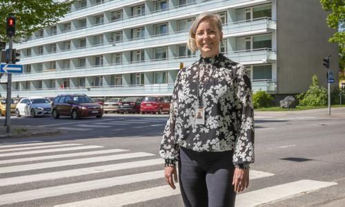 Kaukolämmön avainasiakaspäällikkö Susanna Tuominen.